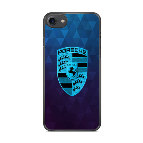 Porche Blue Abstract iPhone 8 Case