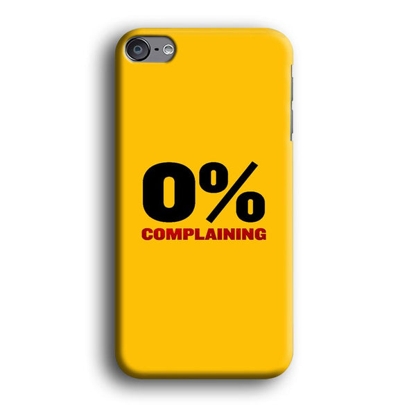 Quote Calm and Think Positive iPod Touch 6 Case