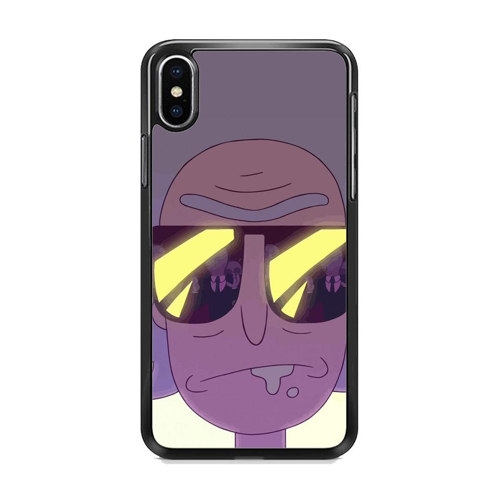 Rick And Morty Glasses iPhone X Case