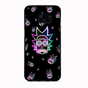 Rick And Morty Head Rick Neon Doodle Samsung Galaxy S7 Case