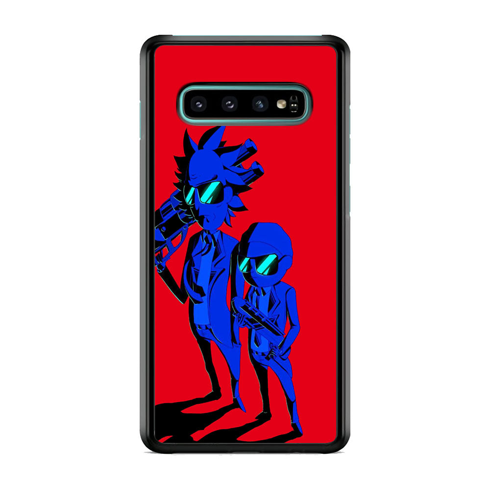 Rick And Morty MIB Beattle Style Samsung Galaxy S10 Plus Case