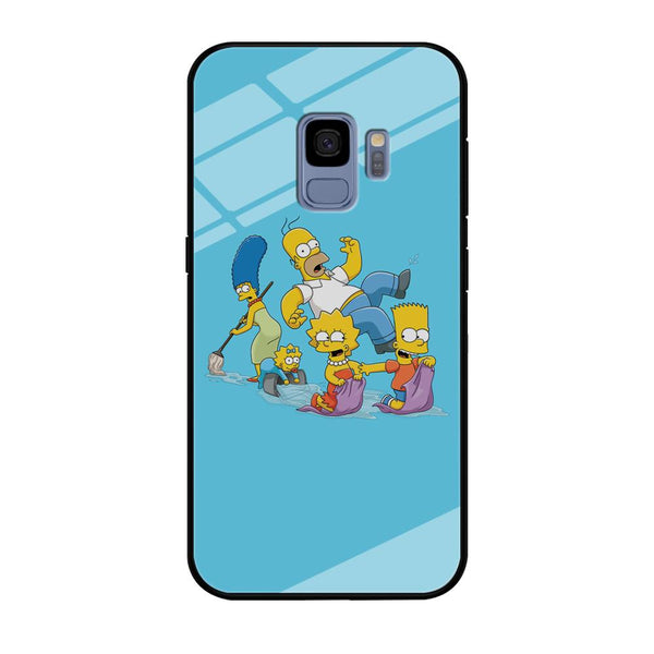 Simpson Happy Family Samsung Galaxy S9 Case