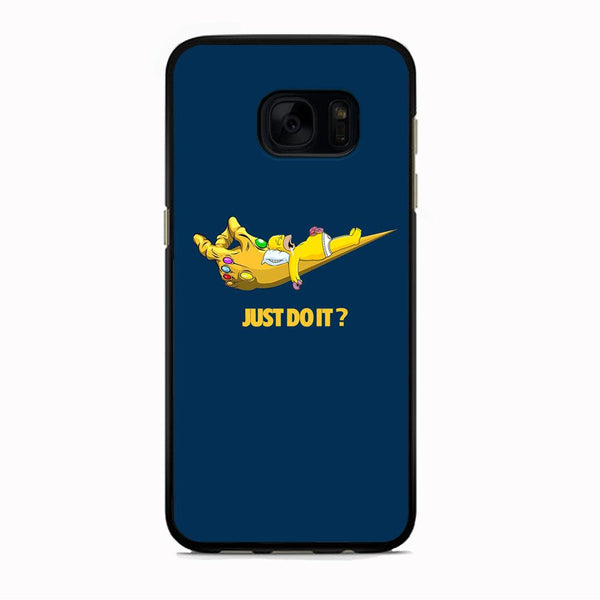 Simpson Homer Sleep In The Hands Of Thanos Samsung Galaxy S7 Edge Case
