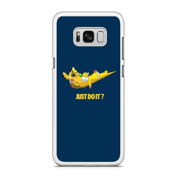 Simpson Homer Sleep In The Hands Of Thanos Samsung Galaxy S8 Plus Case
