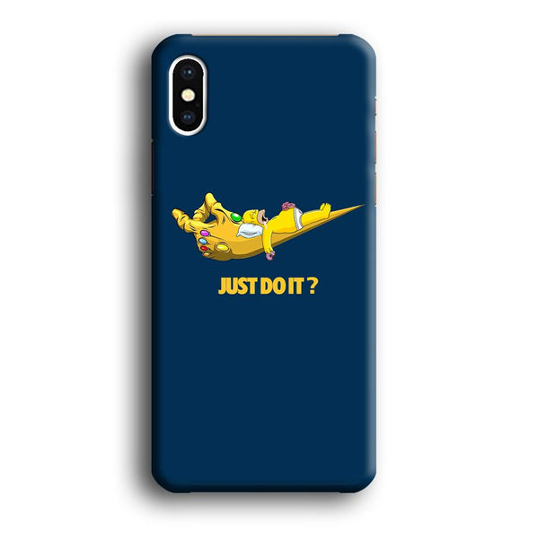 Simpson Homer Sleep In The Hands Of Thanos iPhone XS MAX Case
