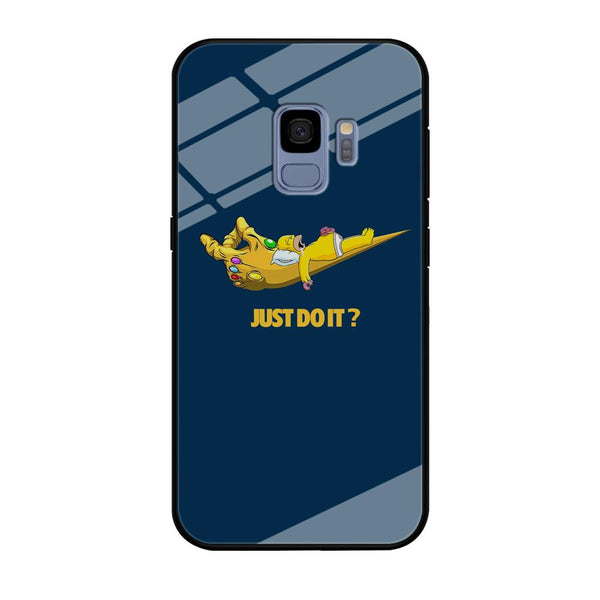 Simpson Homer Sleep In The Hands Of Thanos Samsung Galaxy S9 Case