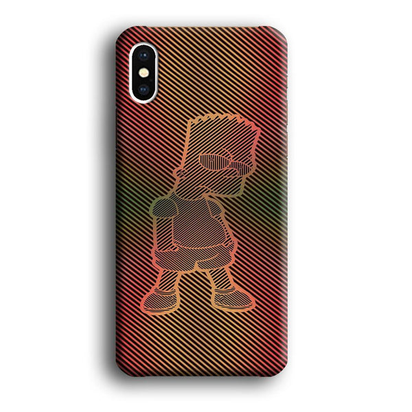 Simpson Stripe Picture iPhone XS MAX Case