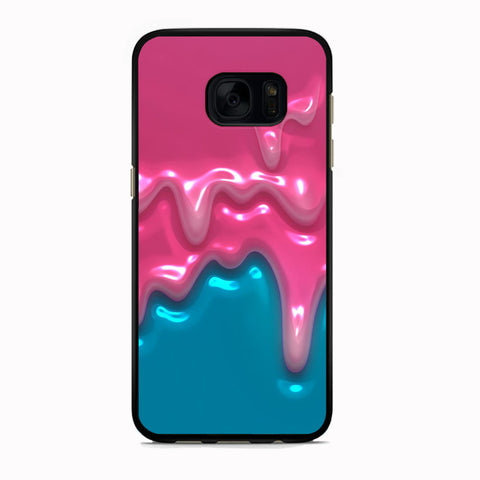 Slime Pink and Blue 3D Liquid Samsung Galaxy S7 Edge Case