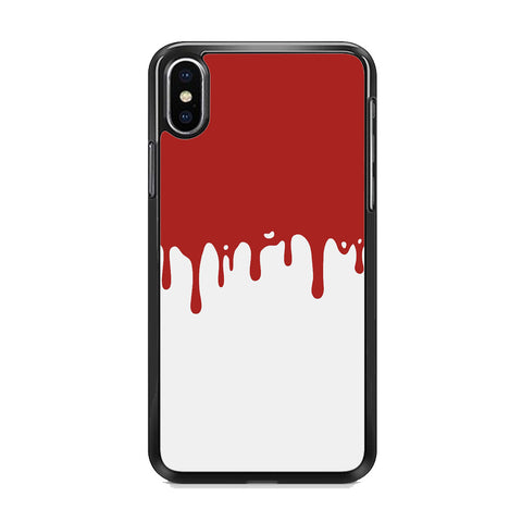 Slime Red Maroon White Milk iPhone XS MAX Case