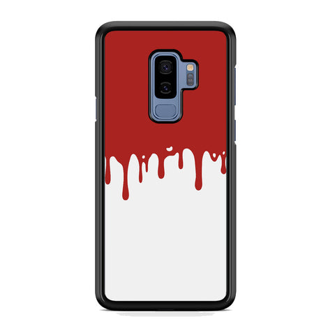 Slime Red Maroon White Milk Samsung Galaxy S9 Plus Case