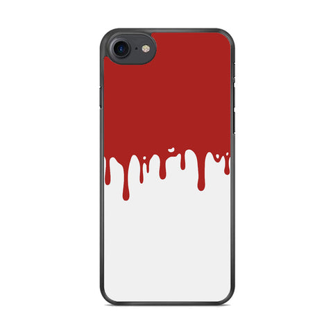 Slime Red Maroon White Milk iPhone 8 Case