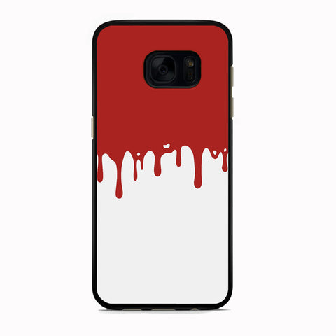 Slime Red Maroon White Milk Samsung Galaxy S7 Case