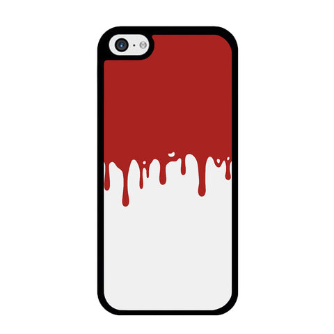 Slime Red Maroon White Milk iPhone 5 | 5s | SE Case