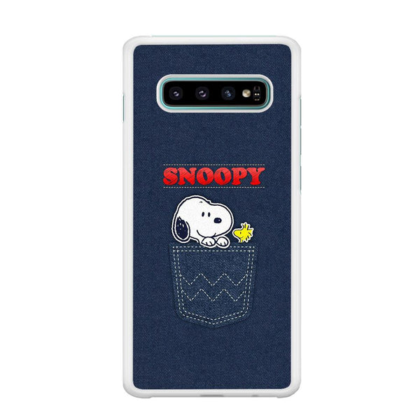 Snoopy And Woodstock In The Pocket Jeans Samsung Galaxy S10 Plus Case