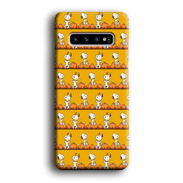 Snoopy Happy farm Fruit Samsung Galaxy S10 Case