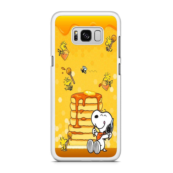 Snoopy Like Eat Pancake Hooney Samsung Galaxy S8 Case