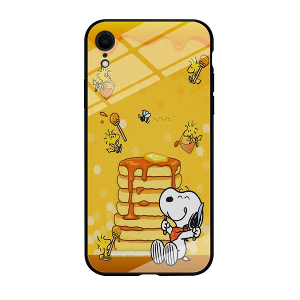 Snoopy Like Eat Pancake Hooney iPhone XR Case