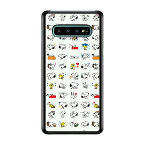 Snoopy White Emoji Samsung Galaxy S10 Case