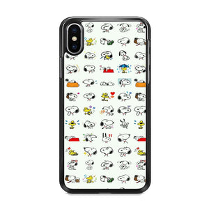 Snoopy White Emoji iPhone XS MAX Case