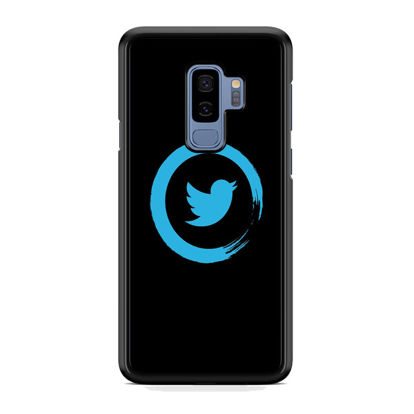 Social Media Blue Circle Twitter Logo Samsung Galaxy S9 Plus Case