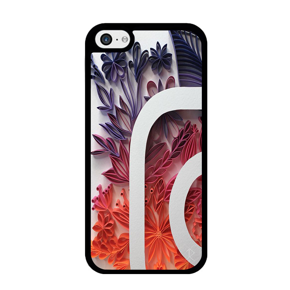 Social Media Instagram Flowers Decoration iPhone 5 | 5s Case