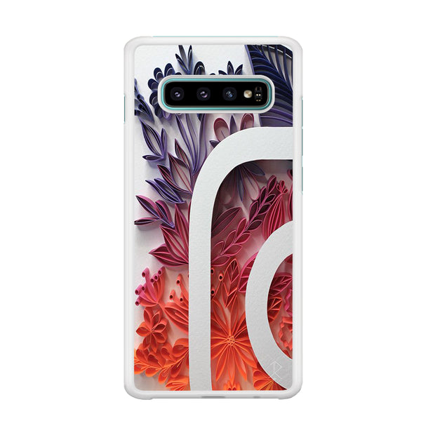 Social Media Instagram Flowers Decoration Samsung Galaxy S10 Case