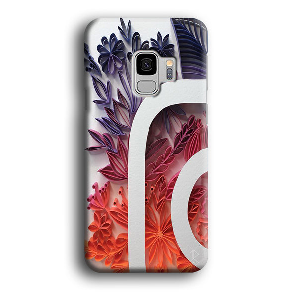 Social Media Instagram Flowers Decoration Samsung Galaxy S9 Case