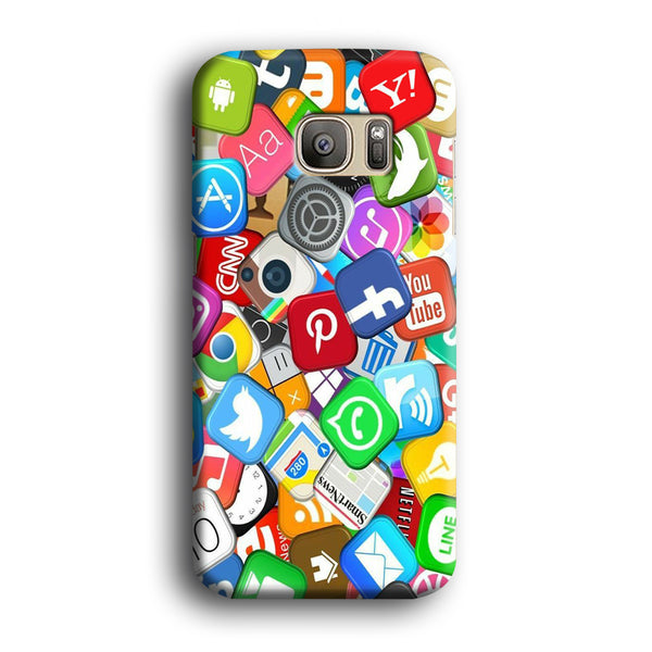 Social Media Mix Emblem Samsung Galaxy S7 Case