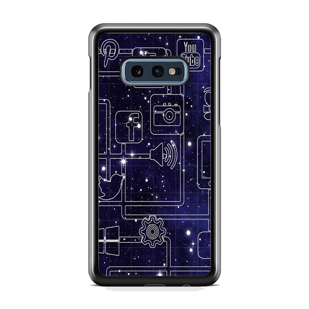 Social Media Space Circuit Samsung Galaxy S10E Case