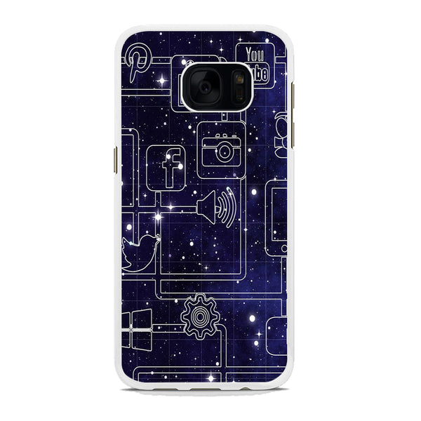 Social Media Space Circuit Samsung Galaxy S7 Edge Case