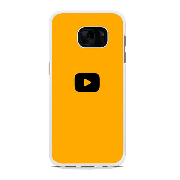 Social Media Yutube Play Button Yellow Samsung Galaxy S7 Case