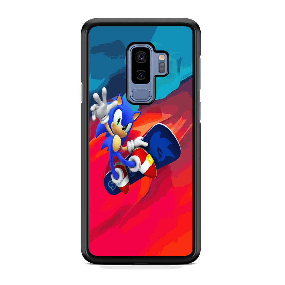 Sonic Flying With Skate Samsung Galaxy S9 Plus Case