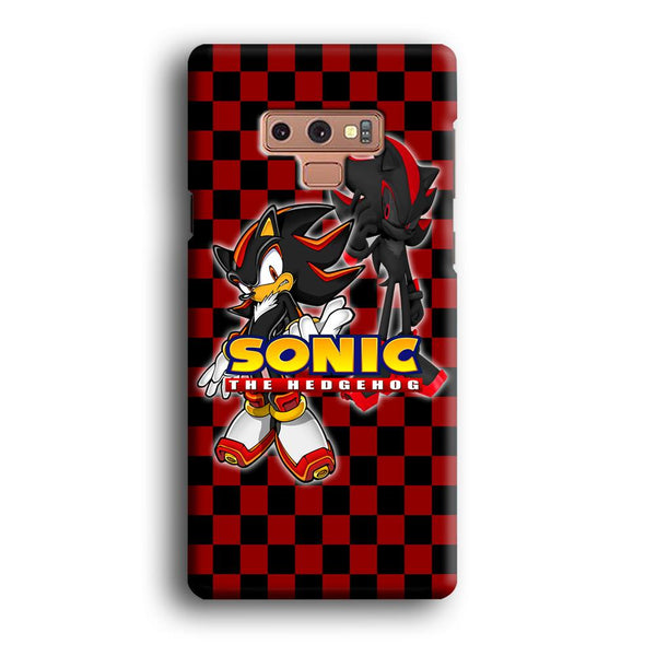 Sonic Hedgehog Red Black Samsung Galaxy Note 9 Case