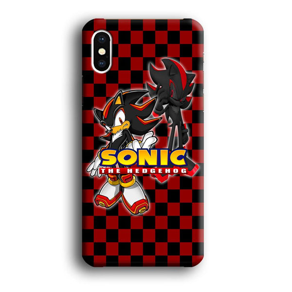 Sonic Hedgehog Red Black iPhone XS MAX Case
