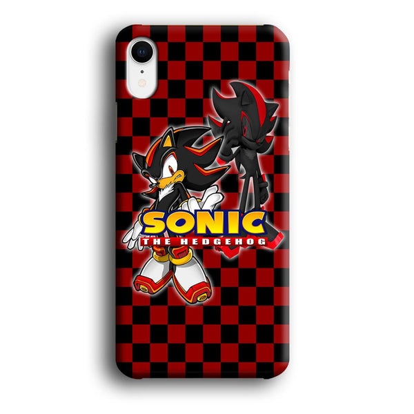 Sonic Hedgehog Red Black iPhone XR Case