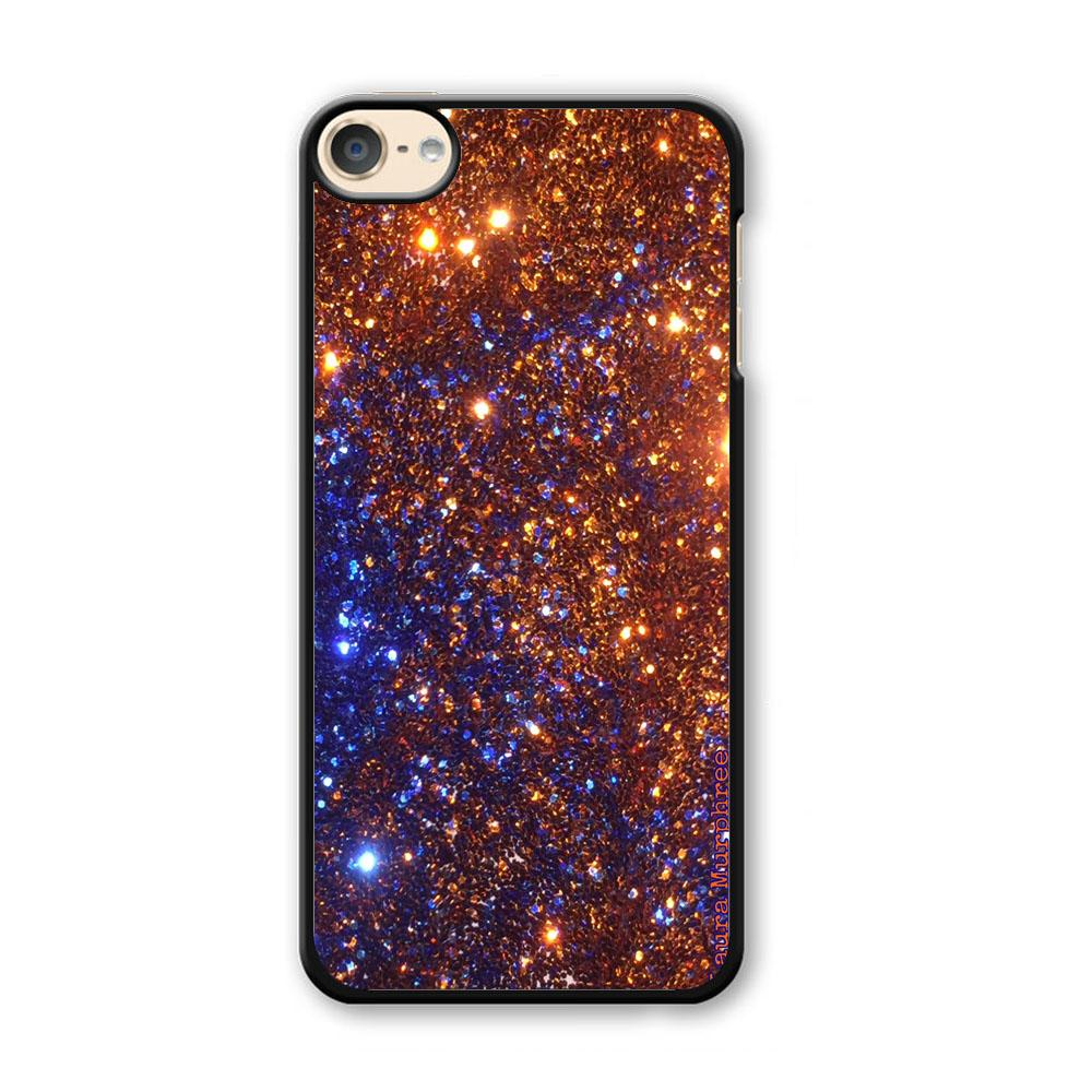 Sparkle Blue and Gold iPod Touch 6 Case