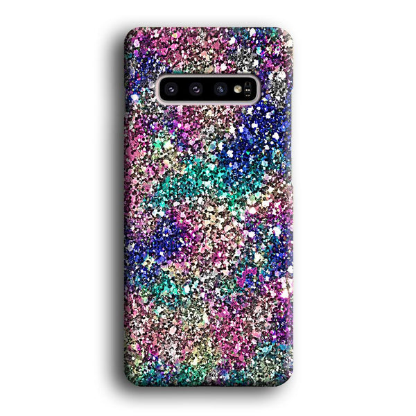 Sparkle Glitter Color Mix Samsung Galaxy S10 Case
