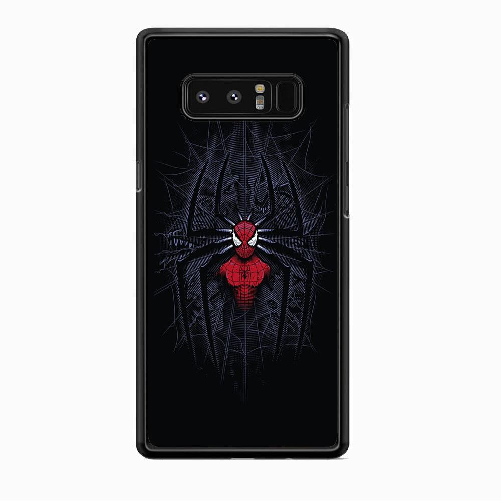 Spiderman Black Logo On The Net Samsung Galaxy Note 8 Case