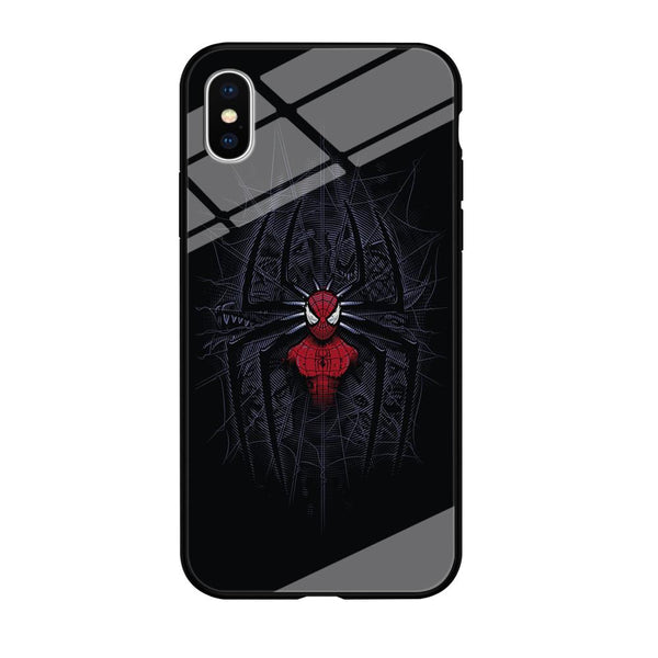 Spiderman Black Logo On The Net iPhone XS MAX Case