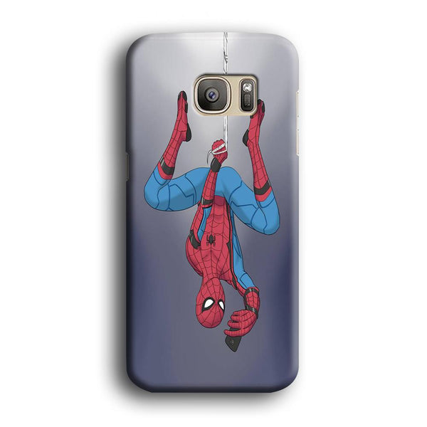 Spiderman Selfie While Hanging Samsung Galaxy S7 Edge Case