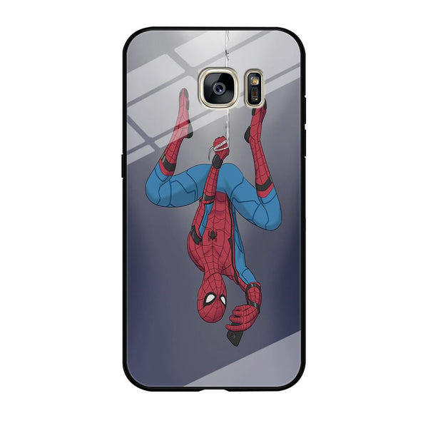 Spiderman Selfie While Hanging Samsung Galaxy S7 Case