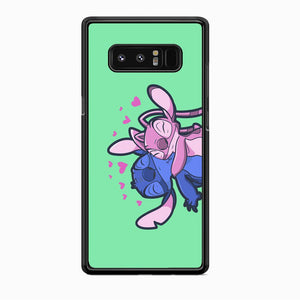 Stitch And Angel Huge Green Wallpaper Samsung Galaxy Note 8 Case