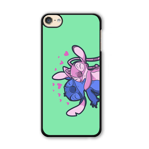 Stitch And Angel Huge Green Wallpaper iPod Touch 6 Case