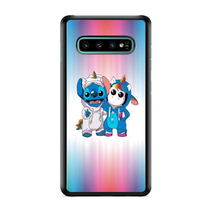 Stitch And Unicornio Soft Colour Gradation Samsung Galaxy S10 Case