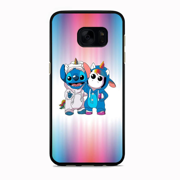 Stitch And Unicornio Soft Colour Gradation Samsung Galaxy S7 Case