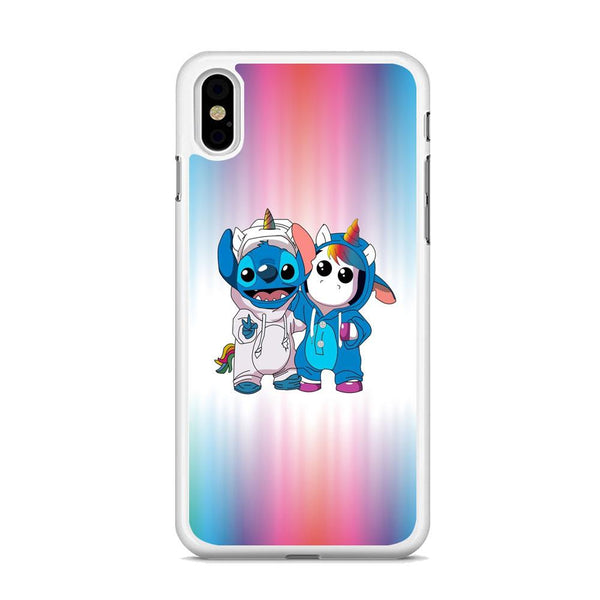 Stitch And Unicornio Soft Colour Gradation iPhone XS MAX Case