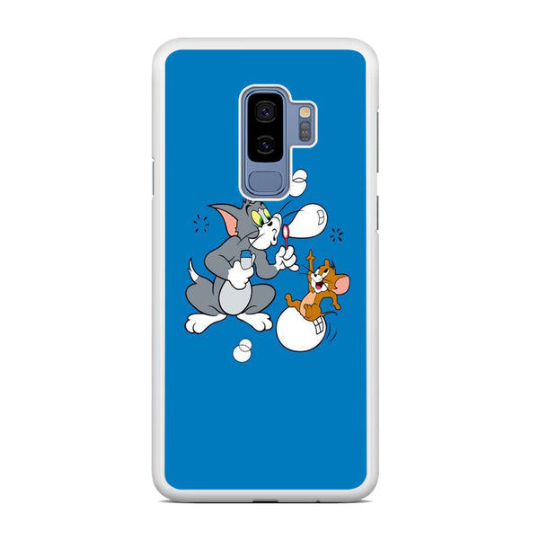 Tom And Jerry Playing Ballon Soap Samsung Galaxy S9 Plus Case