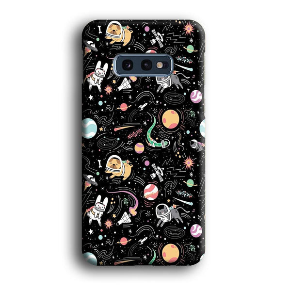 Universe Pets Playing Space Samsung Galaxy S10E Case