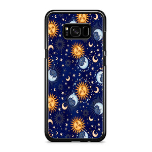 Universe Sun and Moon Face Samsung Galaxy S8 Plus Case