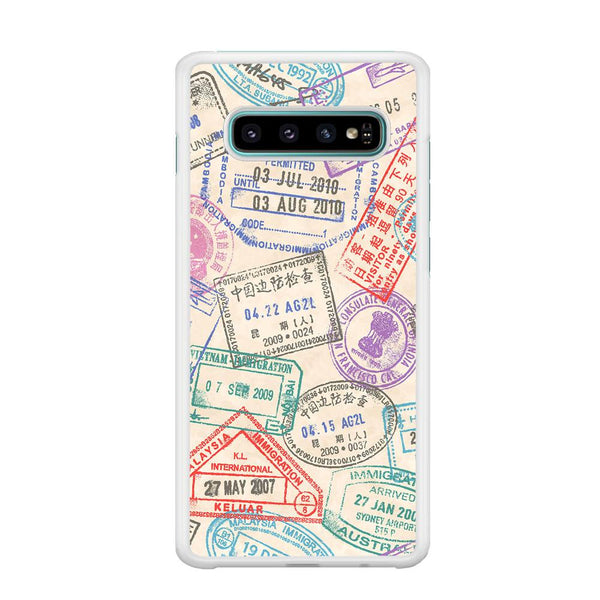 Vacation Visiting List Samsung Galaxy S10 Plus Case